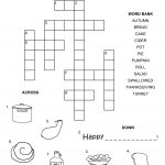 Easy Crossword Puzzles For Kids Happy | Ot Fun | Thanksgiving   Crossword Puzzles For Kindergarten Free Printable