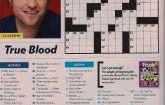 Printable People Magazine Crossword Puzzles