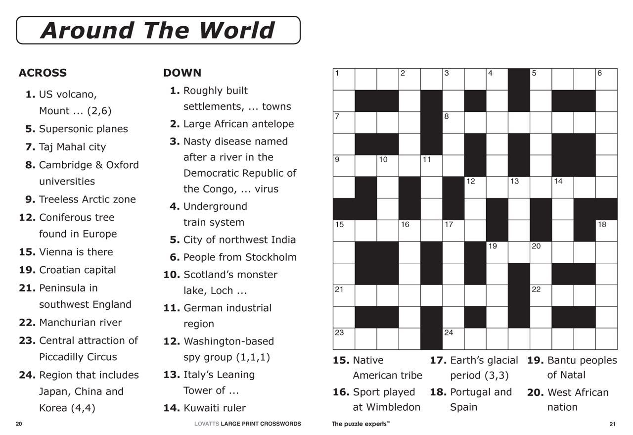 Easy Large Print Crossword Puzzles Printable Easy Crosswords To - Printable Crossword Nz