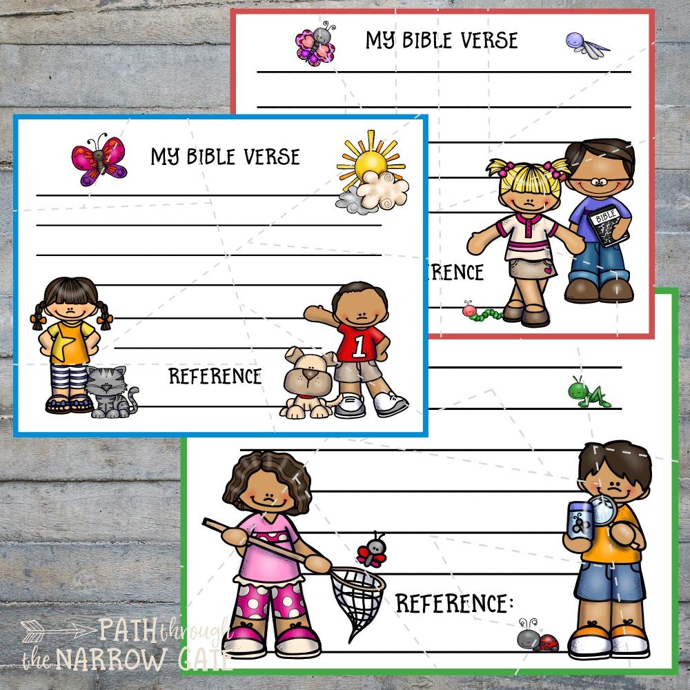Easy Printable Bible Verse Puzzles - Path Through The Narrow Gate - Printable Biblical Puzzles