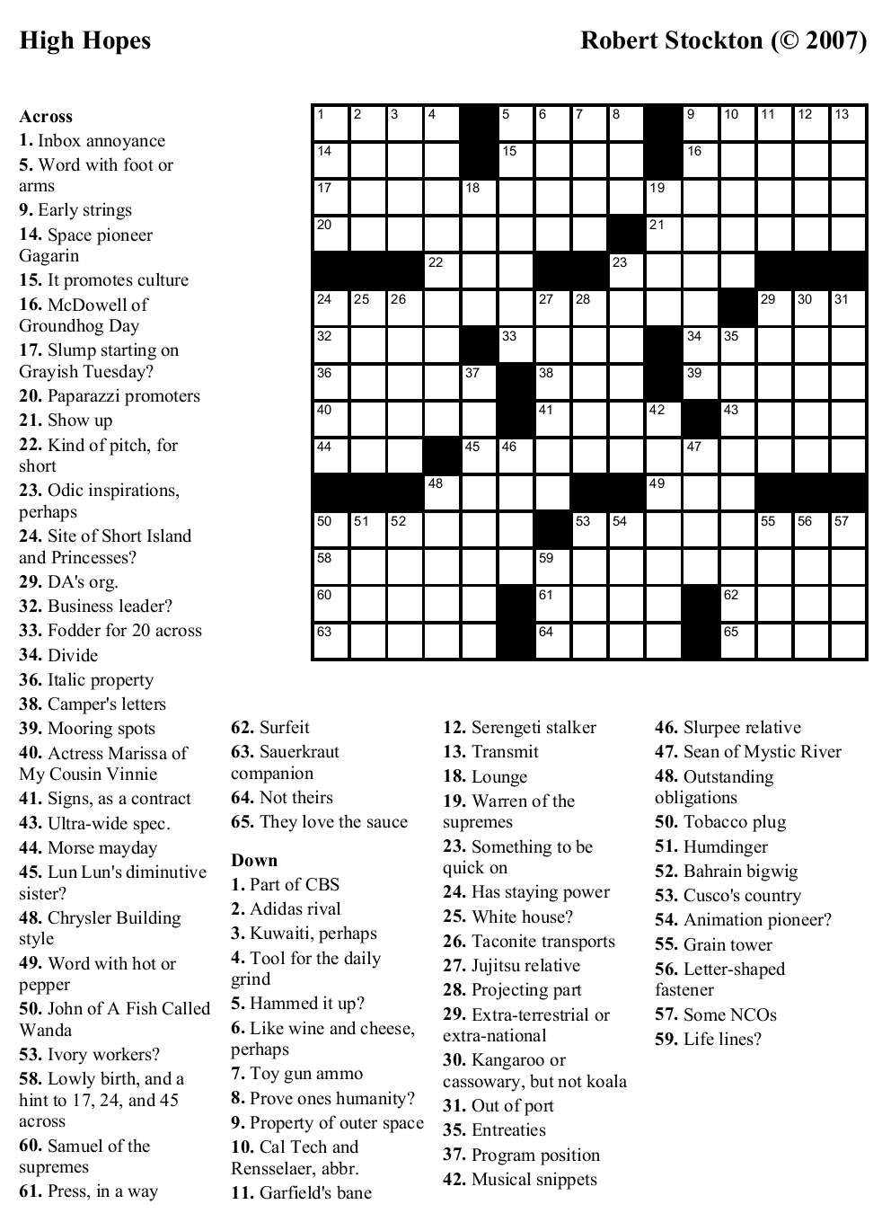 "Easy Printable Crossword Puzzles | ""aacabythã"" 