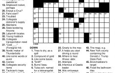Free Printable New York Times Crossword Puzzles