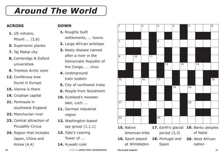 Newspaper Crossword Puzzles Printable Uk