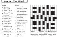 Easy Printable Crossword Puzzles | Elder Care & Dementia Care – Printable Crossword Puzzles For Students