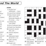 Easy Printable Crossword Puzzles | Elder Care & Dementia Care   Printable Crossword Puzzles Grade 6
