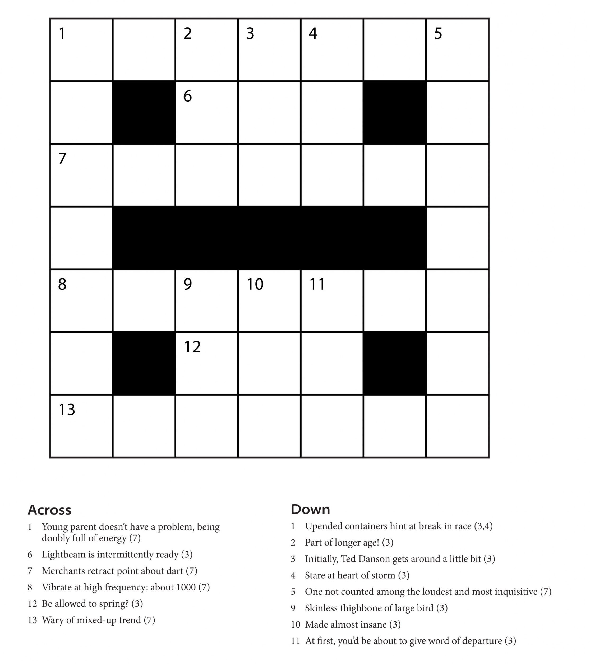 Easy Printable Crossword Puzzles | Freepsychiclovereadings - Cryptic Crossword Puzzles Printable Free
