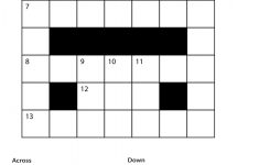 Printable Crosswords For Year 6