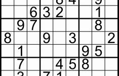 Printable Sudoku Puzzles Easy
