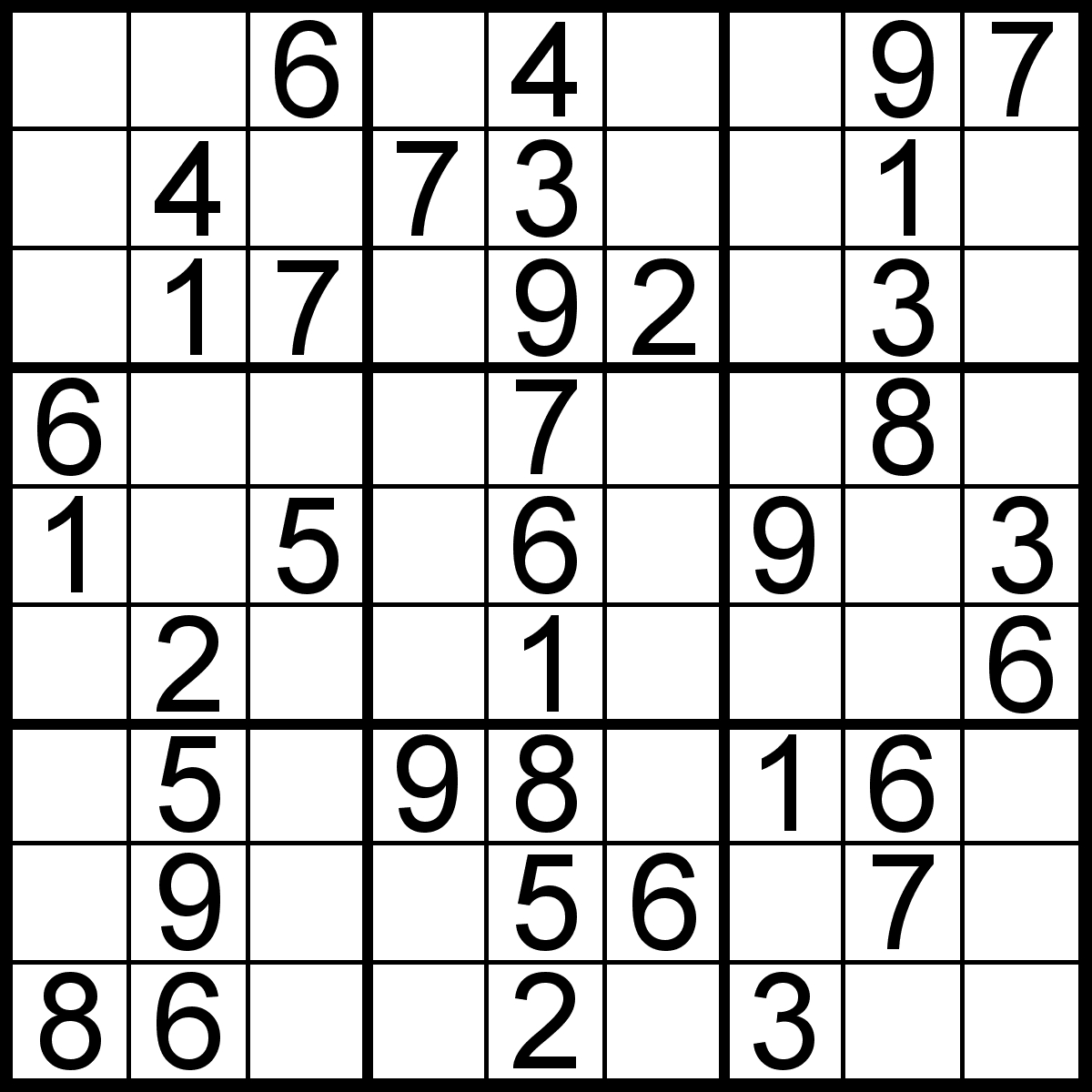 Easy Sudoku Puzzles Printable (96+ Images In Collection) Page 1 - Printable Sudoku Puzzles 99