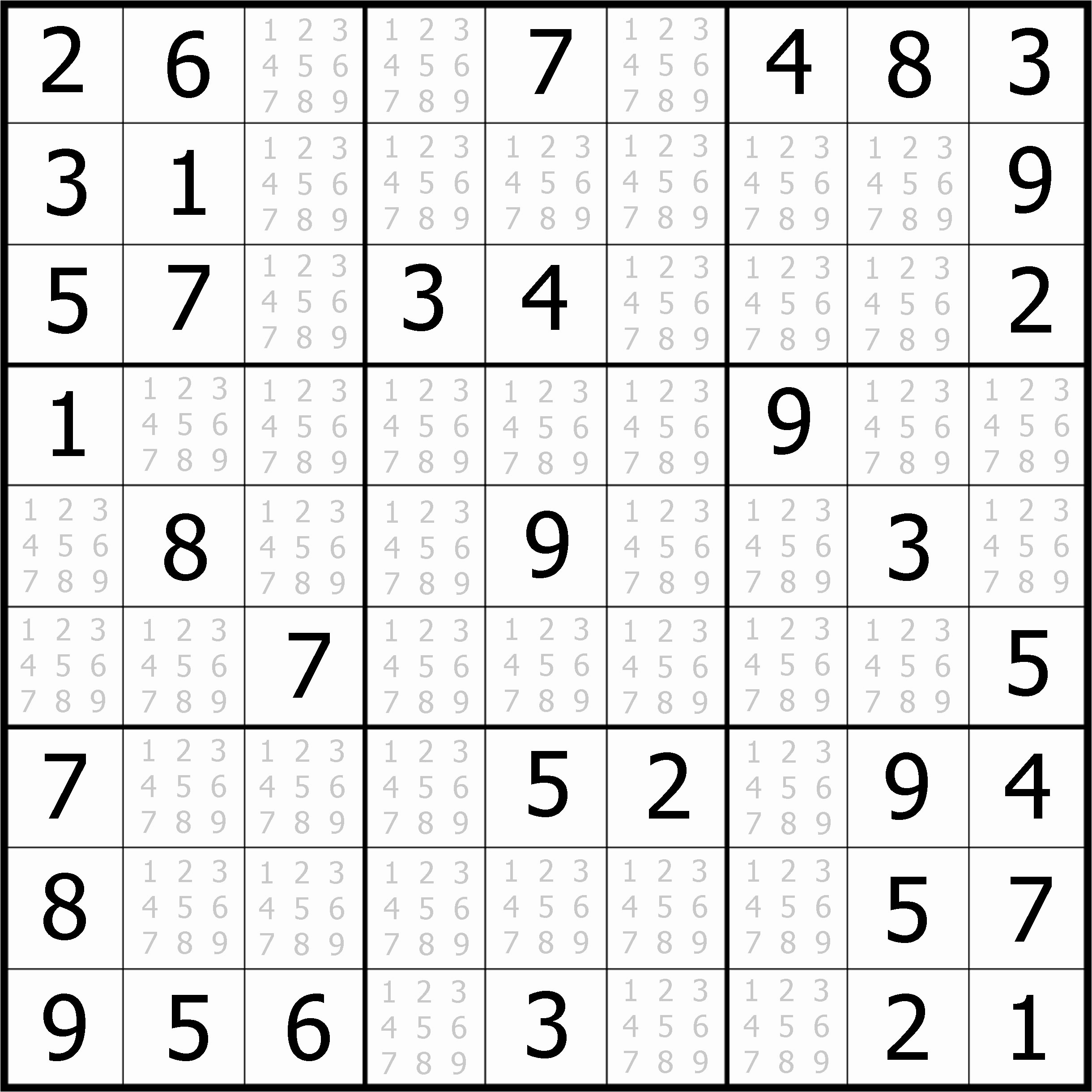 Easy Sudoku Puzzles To Print Free Download Featured Sudoku Puzzle To - Printable Sudoku Puzzles Easy