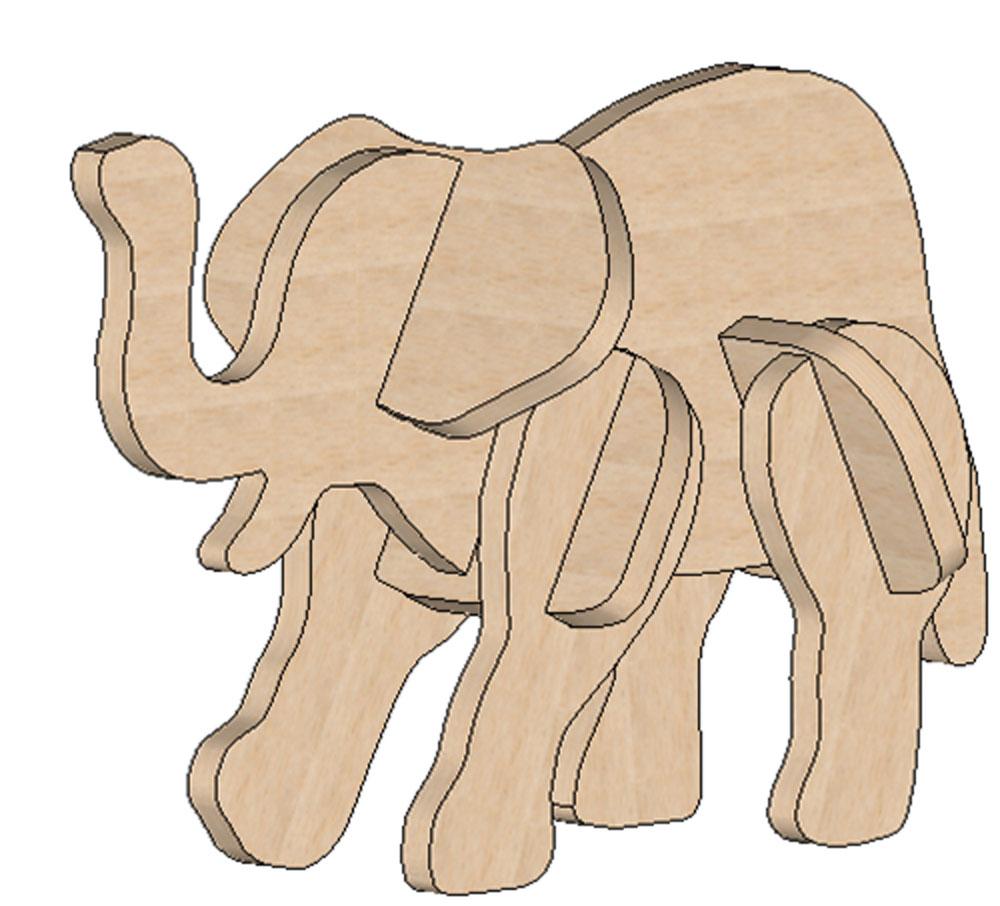 Elephant Mini Puzzle - Printable Elephant Puzzle