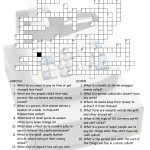Enjoyable Esl Printable Crossword Puzzle Worksheets With Pictures   Printable Crossword Puzzle With Word Bank