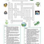 Environment   Crossword Puzzle Worksheet   Free Esl Printable   Crossword Puzzles Vocabulary Printable