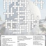 Epcot Crossword Puzzle | Just Because You Have A Fast Passdoesn't   Printable Crossword Disney