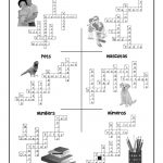 Esl Worksheet Crossword Puzzle Answers | Woo! Jr. Kids Activities   Printable Spanish Crossword Puzzle