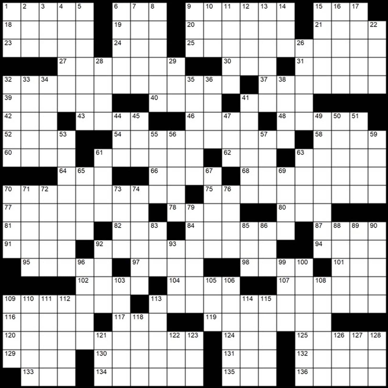 "Evan Birnholz's May 12 Post Magazine Crossword, ""In The Name Of The - Printable Sunday Crossword Washington Post"