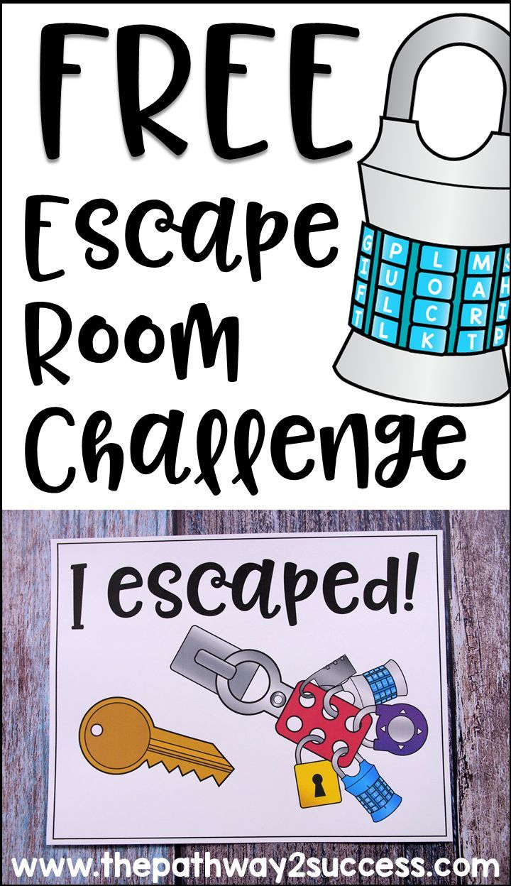 Executive Functioning Escape Room Activity | Cool Stuff From The - Printable Escape Room Puzzle