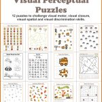Fall Visual Perceptual Puzzles   Your Therapy Source   Free Printable Visual Puzzles