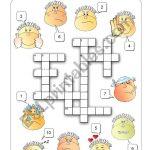 Feelings Crossword   Esl Worksheetalenka   Feelings Crossword Puzzle Printable