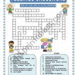 Feelings   Crossword   Esl Worksheetmacomabi   Feelings Crossword Puzzle Printable