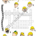 Feelings Crossword Puzzle B/w Version Included! + Answer Key   Esl   Feelings Crossword Puzzle Printable