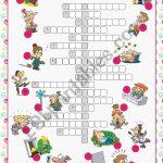 Feelings & Emotions Crossword Puzzle   Esl Worksheetkissnetothedit   Feelings Crossword Puzzle Printable