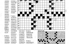 Printable Crossword Puzzle Grid