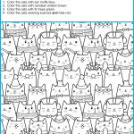 Find And Color The Winter Cats   Your Therapy Source   Free Printable Visual Puzzles