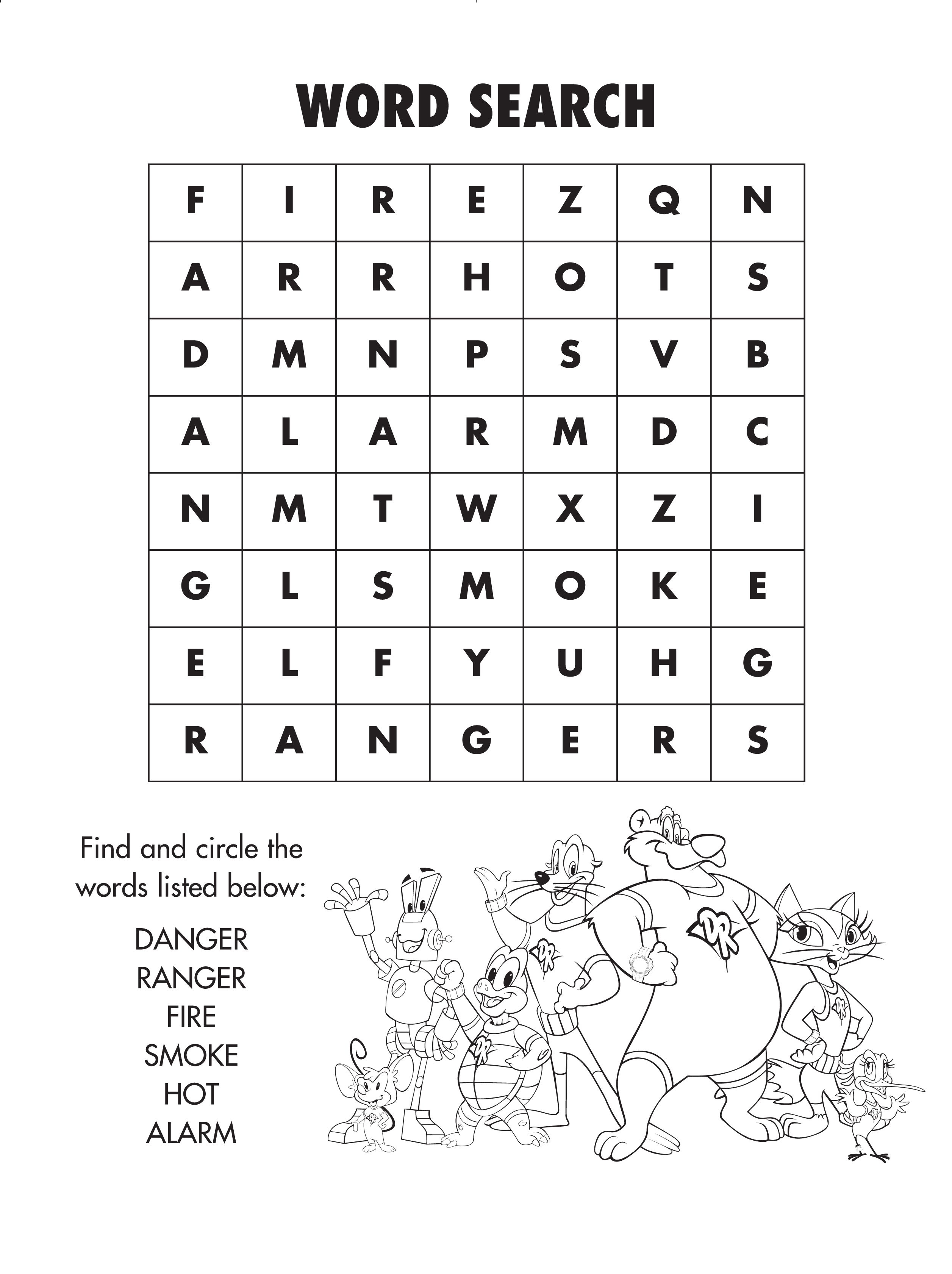 Firesafety Word Search! #freeprintable   Coloring And Activity - Fire Safety Crossword Puzzle Printable