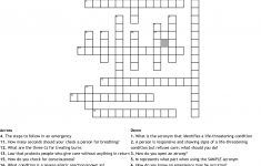 Printable Crossword Puzzle First Aid