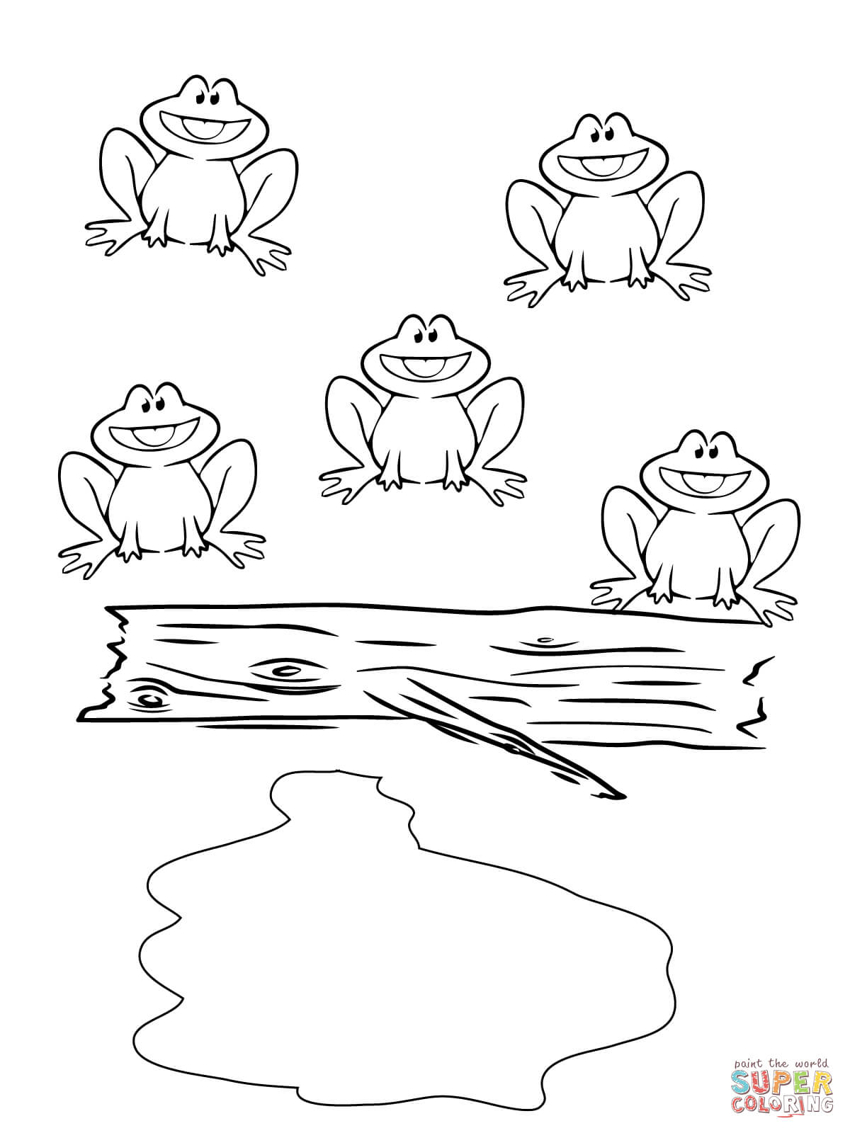 Five Little Speckled Frogs Coloring Page | Free Printable Coloring Pages - Printable Frog Puzzle