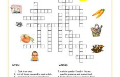 Food And Drink Crossword Worksheet – Free Esl Printable Worksheets – Printable Crossword Puzzles About Food