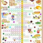 Food ,drinks And Groceries Crosswords Worksheet   Free Esl Printable   Printable Crossword Puzzles About Food