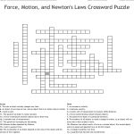 Force, Motion, And Newton's Laws Crossword Puzzle Crossword   Wordmint   Physics Crossword Puzzles Printable With Answers