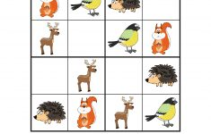 Forest Animals Sudoku {Free Printables} – Gift Of Curiosity – Printable Animal Puzzles