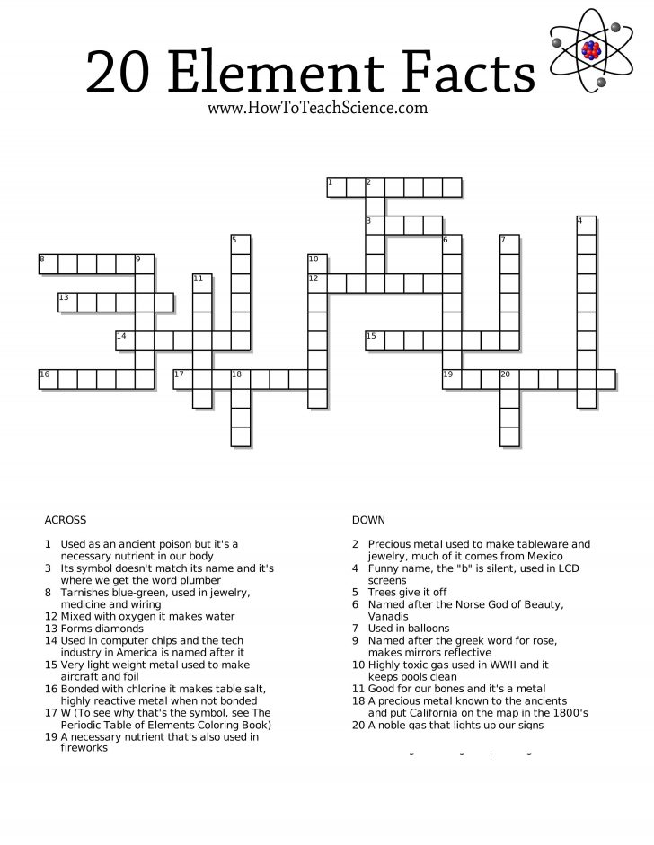 Printable Crossword Puzzles For Third Graders