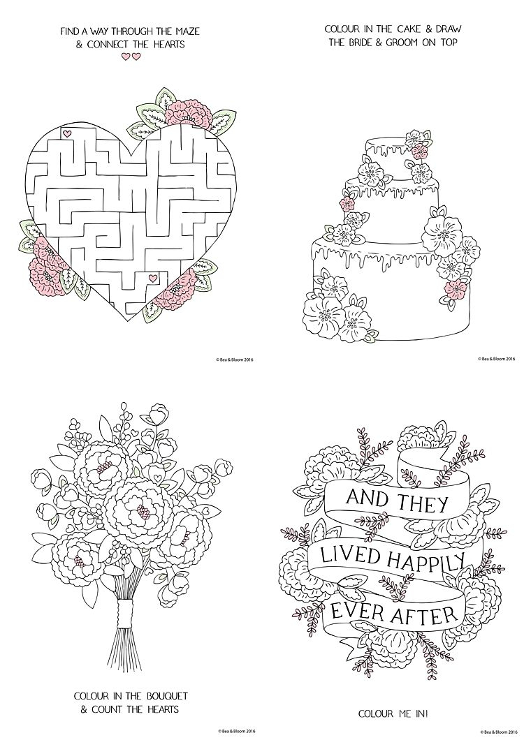 Free Download Printable Wedding Colouring Sheets For Kids | Going To - Printable Wedding Puzzles