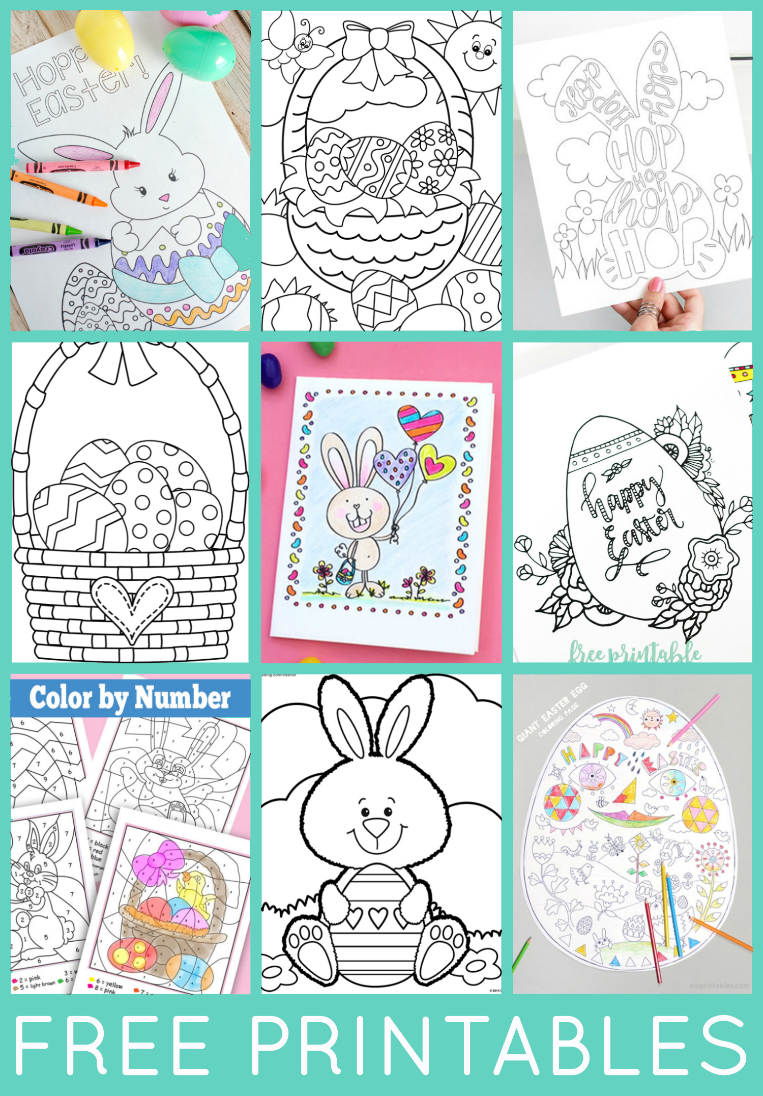 Free Easter Coloring Pages - Happiness Is Homemade - Printable Bunny Puzzle