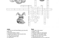 Free Easter Crossword Puzzles Printable