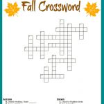 Free #fall Crossword Puzzle #printable Worksheet Available With And   Printable Crossword Puzzle With Word Bank