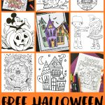 Free Halloween Coloring Pages For Adults & Kids   Happiness Is Homemade   Printable Halloween Puzzle Pages