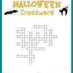 Free Halloween Crossword Puzzle #printable Worksheet Available Both   Halloween Crossword Puzzle Printable 3Rd Grade