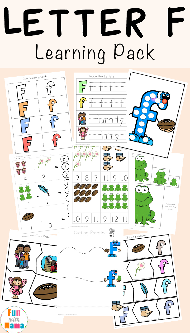 Free Letter F Worksheets - Fun With Mama - Printable Letter Puzzles