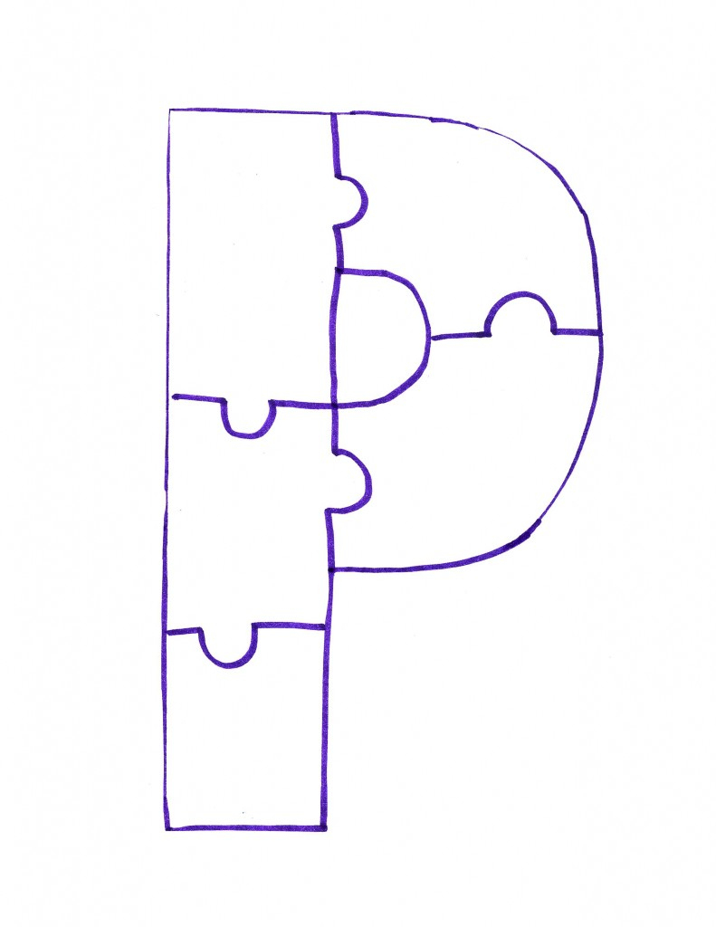 Free Letter P, Download Free Clip Art, Free Clip Art On Clipart Library - Letter P Puzzle Printable