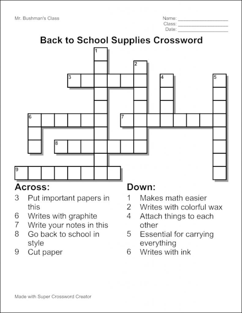 Free Make Your Own Crosswords Printable | Free Printables - Make Your Own Crossword Puzzle Printable