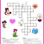 Free Mother's Day Crossword Puzzle Printable | Crafts For Kids   Printable Puzzle Of The Day