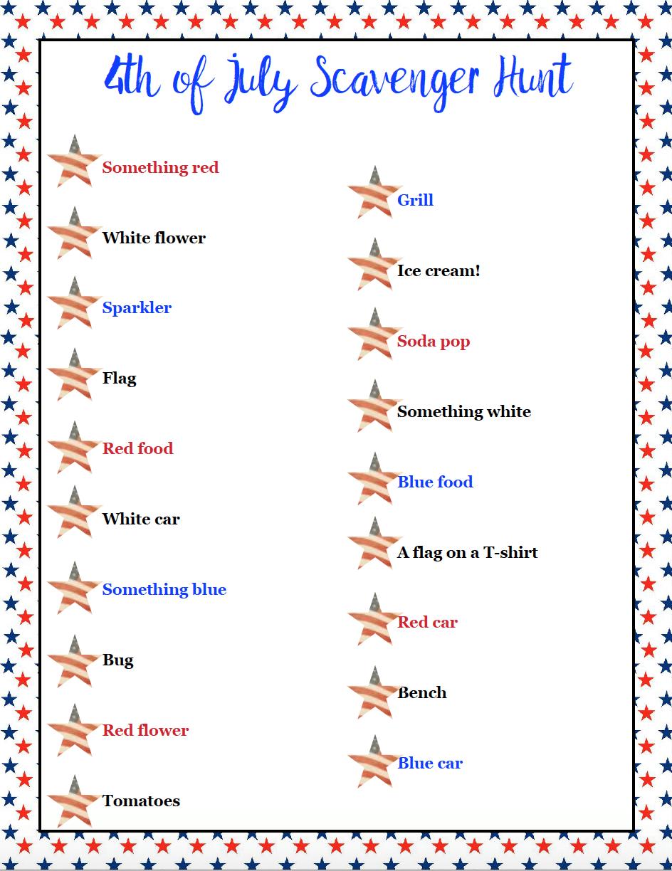 Free Printable 4Th Of July Scavenger Hunts: 2 Different Types - Printable 4Th Of July Crossword Puzzle