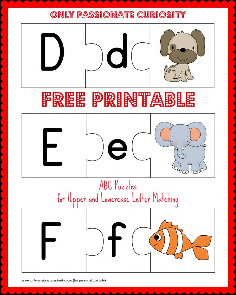 Free Printable Abc Puzzles | School Is Fun | Upper, Lowercase - Printable Abc Puzzle