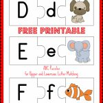 Free Printable Abc Puzzles | School Is Fun | Upper, Lowercase   Printable Puzzle Alphabet