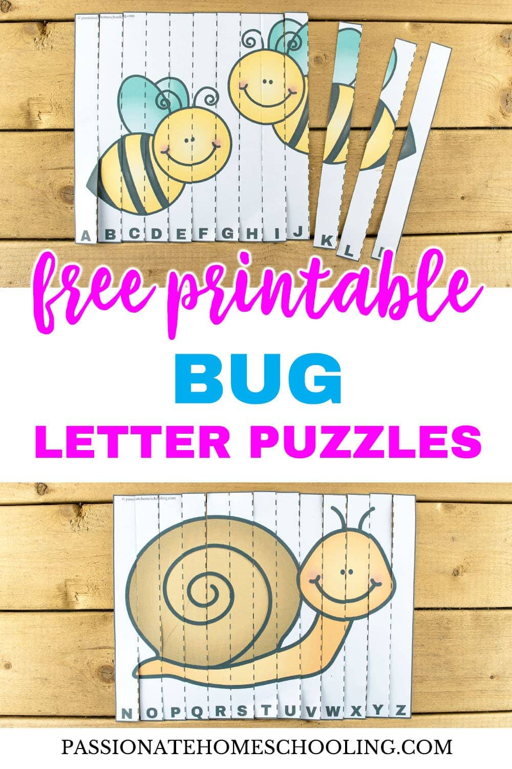 Free Printable Bug Letter Puzzles - Passionate Homeschooling - Printable Bug Puzzles